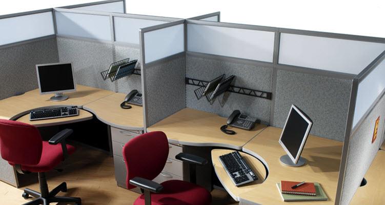 Speciaal meubilair voor telemarketing met akoestische panelen - Provite
